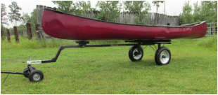 ATV Pulled Canoe Kayak Trailer