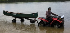 ATV CANOE TRAILER WITH FLOTATION TIRES